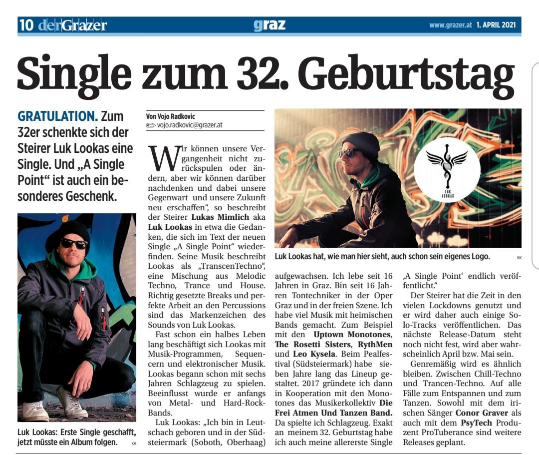 """""""der Grazer"""" über Luk Lookas"""